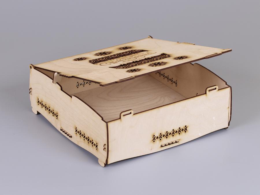 Подарочные коробки из фанеры от 137 руб, купить фанерные коробки для сувениров - Эстетис