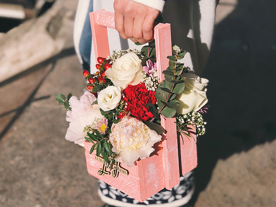 ящики для цветов деревянные ящички для цветочных композиций