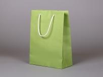 <p><strong><em>Материал:</em></strong><em>дизайнерская бумага эфалин (зеленое яблоко 152), люверсы металлические, ручки (возможные цвета: белый, серый, черный, темно-синий, красный, фиолетовый)</em></p> <p><em><strong>Технология:</strong>вырубка дизайнерской бумаги, сборка, монтаж ручек, нанесение, тиснение</em></p> <p><em><strong>Размер, мм.:</strong>220 х 100 х 300 (возможны другие размеры)</em></p> <p><em><strong>Примерная стоимость, руб.:</strong></em></p> <p><em>при тираже 30 шт от 166 (без нанесений)</em></p> <p><em>при тираже 50 шт от 155 (без нанесений)</em></p> <p><em>при тираже 100 шт от 146 (без нанесений)</em></p> <p><em>стоимость пакета в зависимости от тиража расчитывает менеджер</em></p>