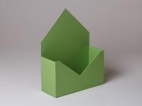 """<p><strong><em>Материал:</em></strong><em>картон, дизайнерская бумага эфалин (зелёное яблоко 152)</em></p> <p><em><strong>Технология:</strong>вырубка картона, сборка, каширование бумагой</em></p> <p><em><strong>Размер, мм.:</strong>240 х 90 х 150 мм</em></p> <p><em><strong>Примерная стоимость, руб.:</strong></em></p> <p><em>дизайнерская бумага от<strong>377</strong>(с внутренней оклейкой)</em></p> <p><em><em><em><em><em><em><em><em><em><em><strong><em><em>БЛАНК ЗАКАЗА И ЦЕНЫ<a href=""""http://estetis.ru/files/doc/Blank_zakaza.xlsx"""" target=""""_blank"""">СКАЧАТЬ</a></em></em></strong></em></em></em></em></em></em></em></em></em></em></p>"""