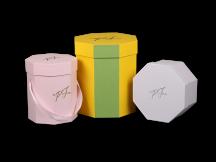 Восьмигранные коробки для цветов и подарков